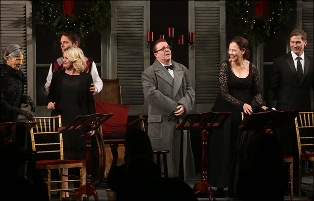 Mary Louise Wilson, Zach Shaffer, Mary Catherine Garrison, Nathan Lane, Harriet Harris and Hank Stratton