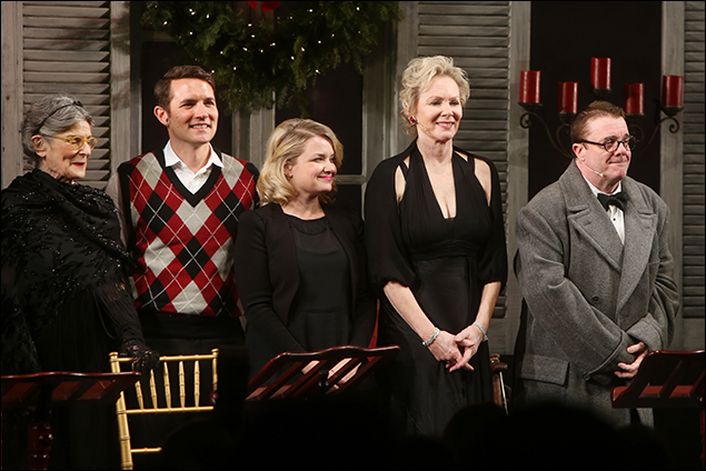 Mary Louise Wilson, Zach Shaffer, Mary Catherine Garrison, Jean Smart and Nathan Lane take their bows following a one-night-only staged reading The Man Who Came to Dinner in 2015.