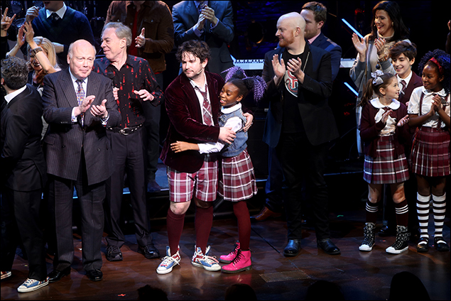 Julian Fellowes, Andrew Lloyd Webber, Alex Brightman and cast