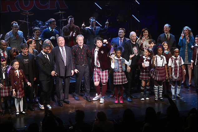 Glenn Slater, Laurence Connor, Julian Fellowes, Andrew Lloyd Webber, Alex Brightman and cast