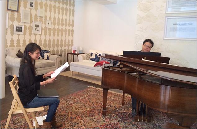 Ali Ewoldt rehearses with Ming Aldrich-Gan