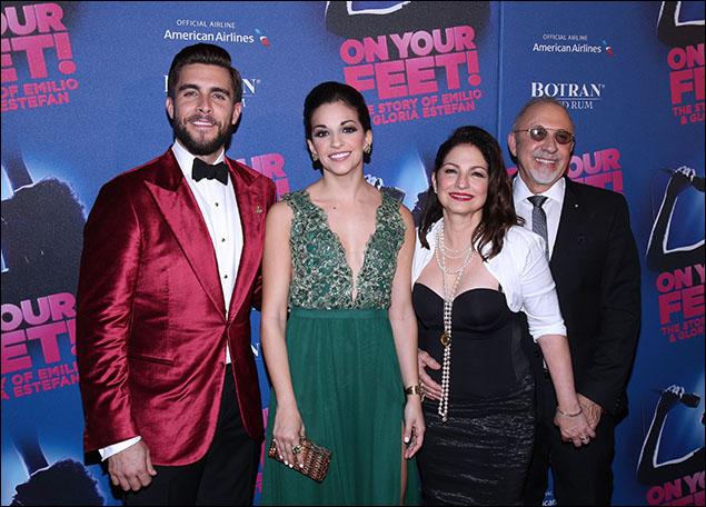 Josh Segarra, Ana Villafañe, Gloria Estefan and Emilio Estefan