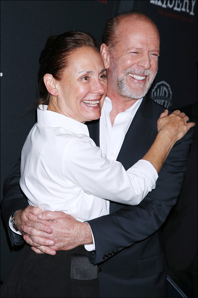 Laurie Metcalf and Bruce Willis