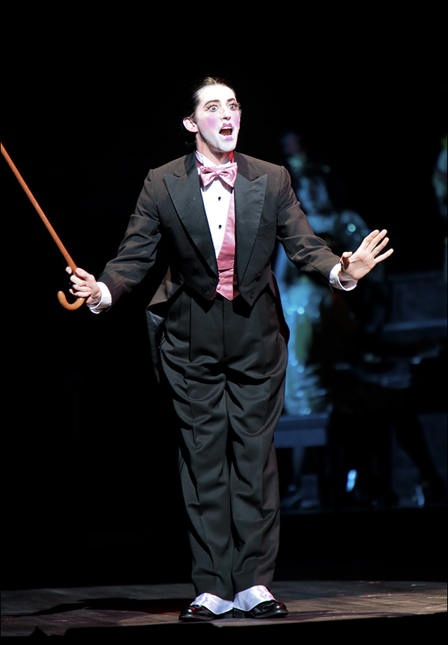 Josh Grisetti as the Emcee in Cabaret