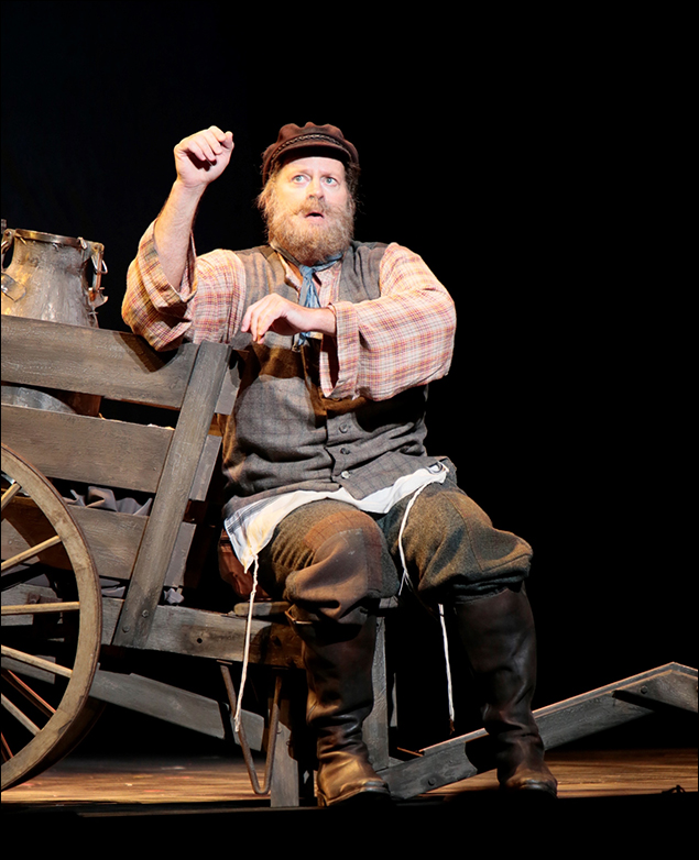 Shuler Hensley as Tevye in Fiddler on the Roof