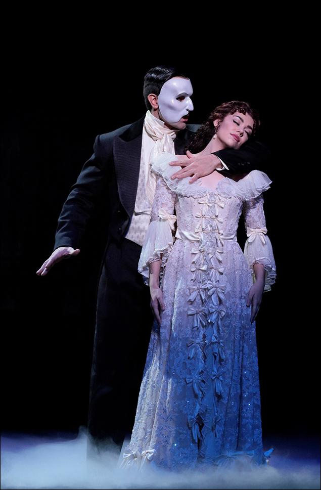 Ramin Karimloo and Kaley Ann Voorhees in Phantom of the Opera