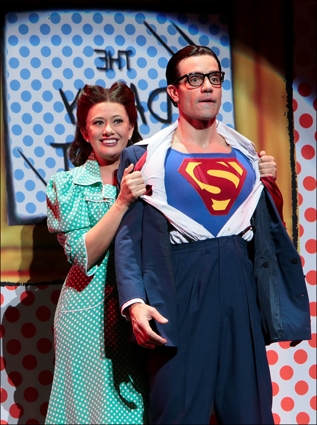 """Mariand Torres and Ramin Karimloo perform """"You've Got Possibilities"""" from It's a Bird…It's a Plane…It's Superman!"""