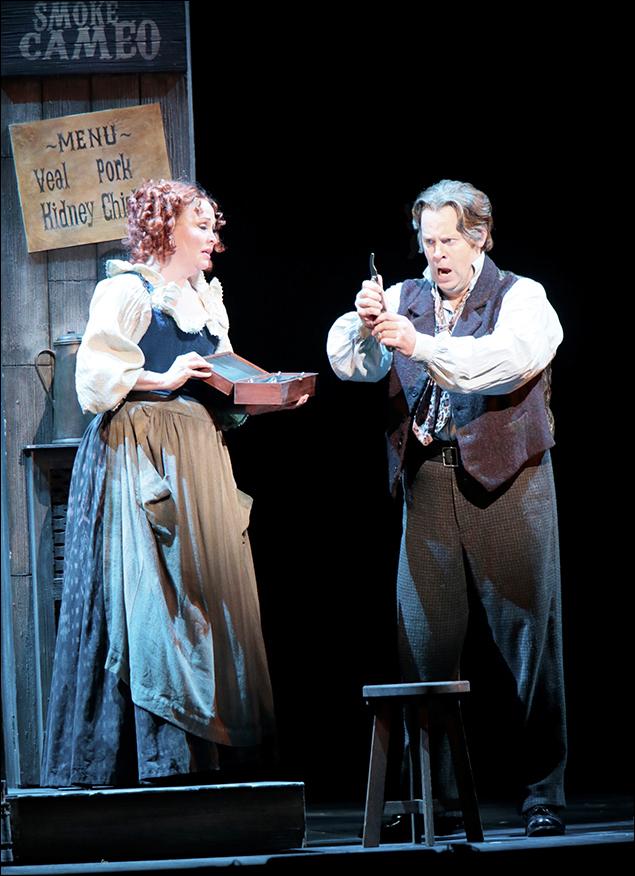 Nancy Opel and Shuler Hensley in Sweeney Todd