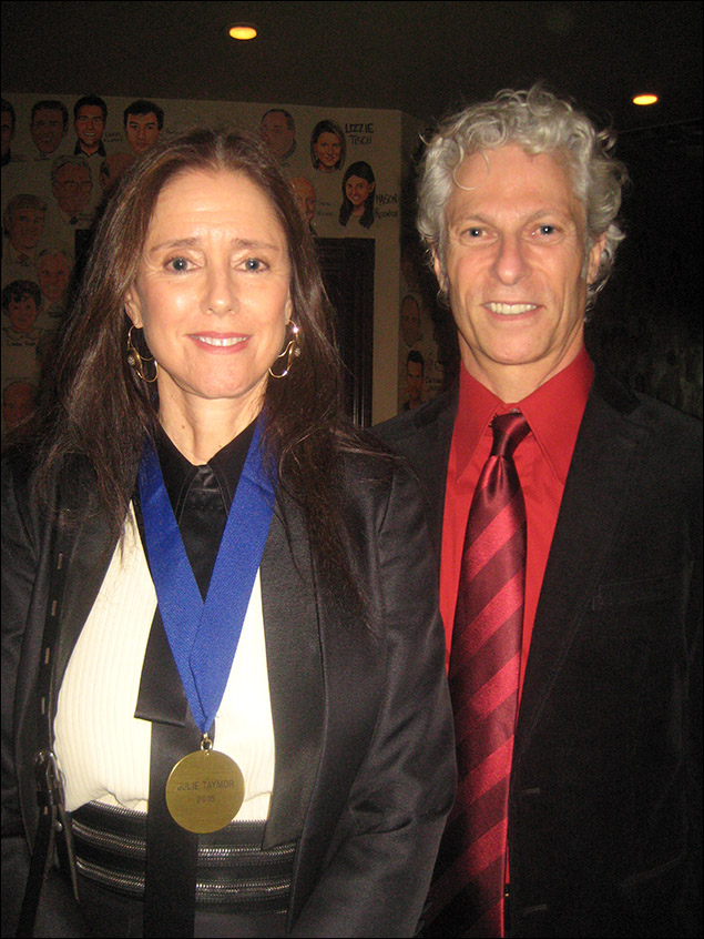 Honoree Julie Taymor and David Siegel
