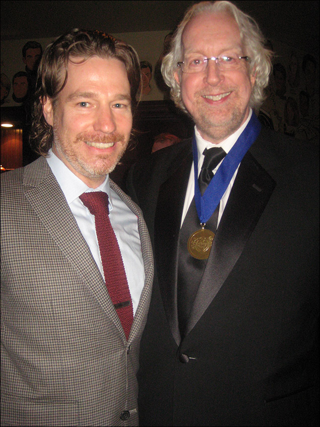 Ethan McSweeney and honoree Robert Falls