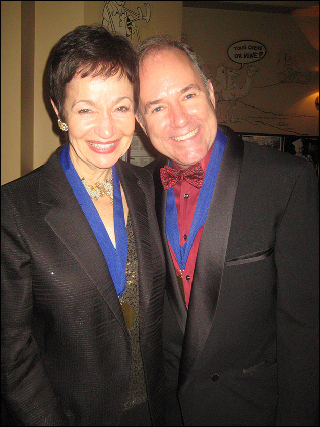 Honorees Lynn Ahrens and Stephen Flaherty