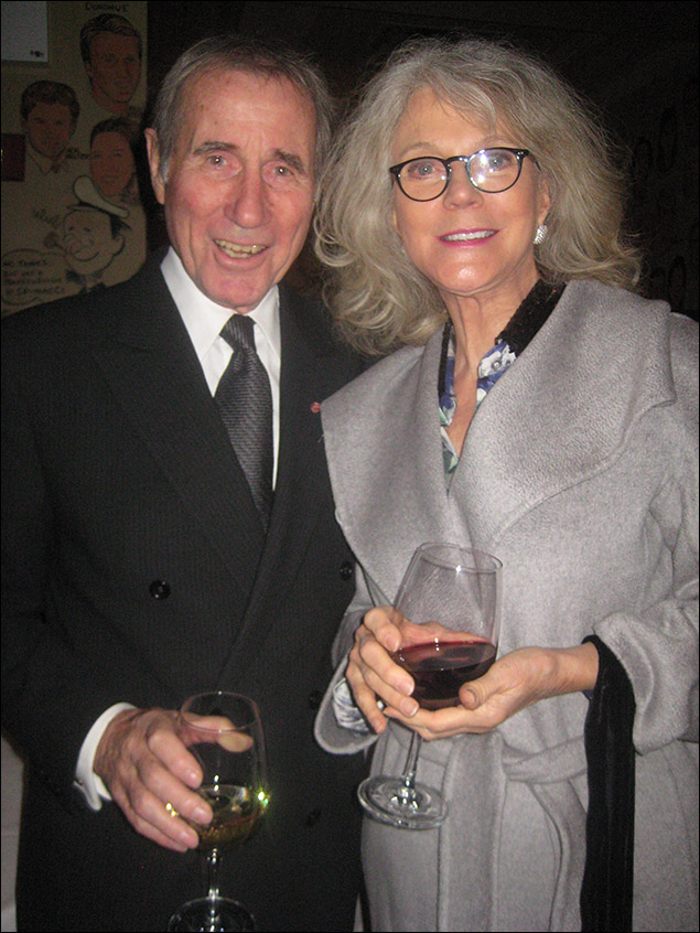 Jim Dale and Blythe Danner
