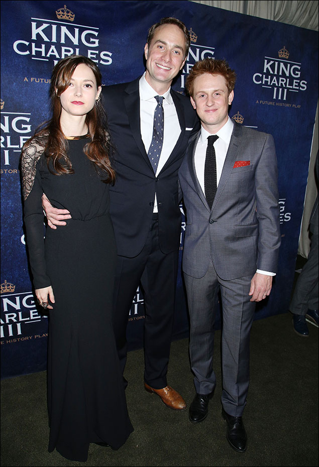 Lydia Wilson, Oliver Chris and Richard Goulding