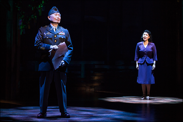 George Takei and Lea Salonga in Allegiance on Broadway