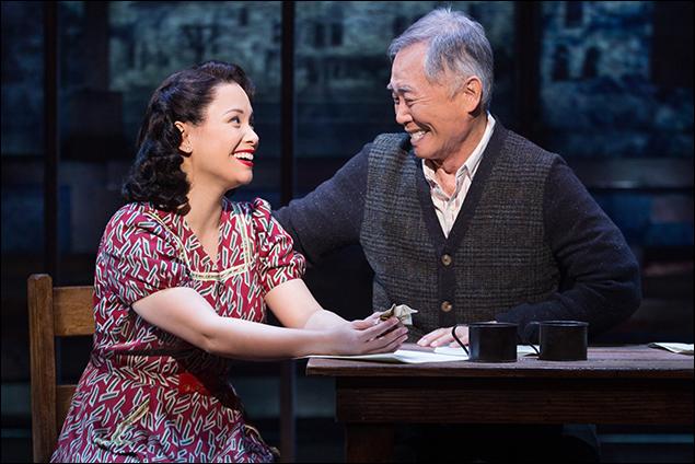 Lea Salonga and George Takei in Allegiance on Broadway