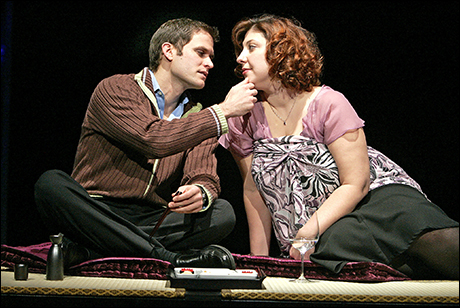 Steven Pasquale and Ashlie Atkinson in Fat Pig at the Lucille Lortel Theater