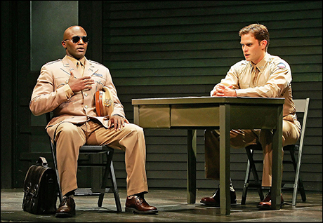 Steven Pasquale and Taye Diggs in A Soldier's Play at Second Stage