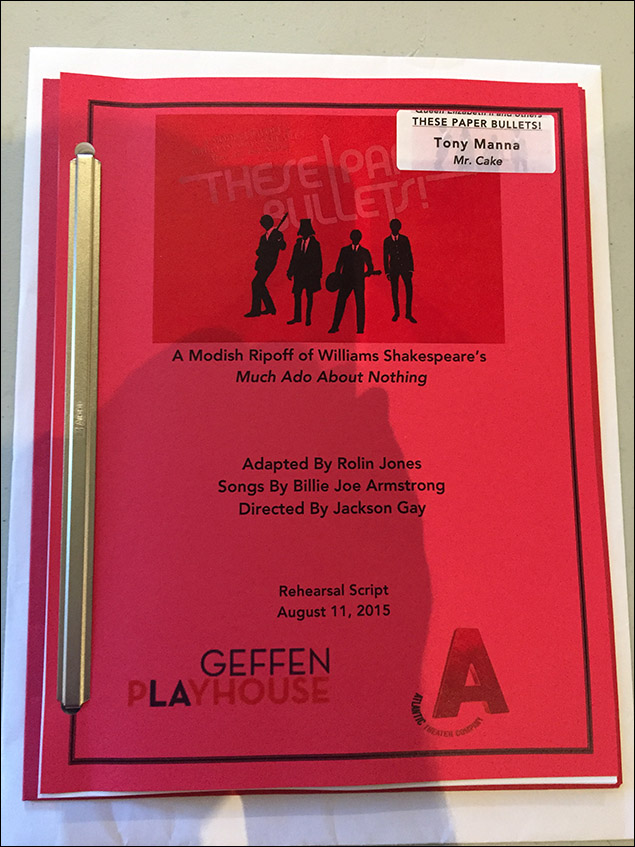 First day of school for the Geffen Playhouse/Atlantic Theater co-production of These Paper Bullets!