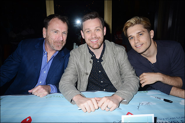 Colin Quinn, Michael Arden and Andy Mientus