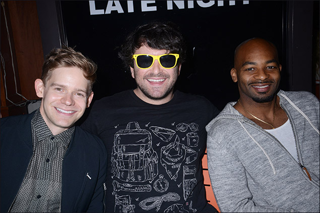 Andrew Keenan-Bolger, Alex Brightman and Brandon Victor Dixon