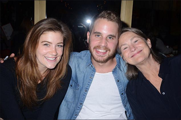 Laura Dreyfuss, Ben Platt and Cherry Jones