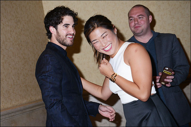 Darren Criss and Jenna Ushkowitz