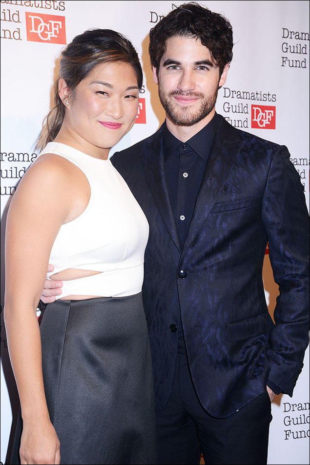 Jenna Ushkowitz and Darren Criss
