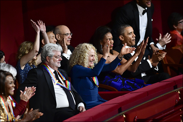 Cicely Tyson, George Lucas, Carole King, First Lady Michelle Obama, and President Barack Obama