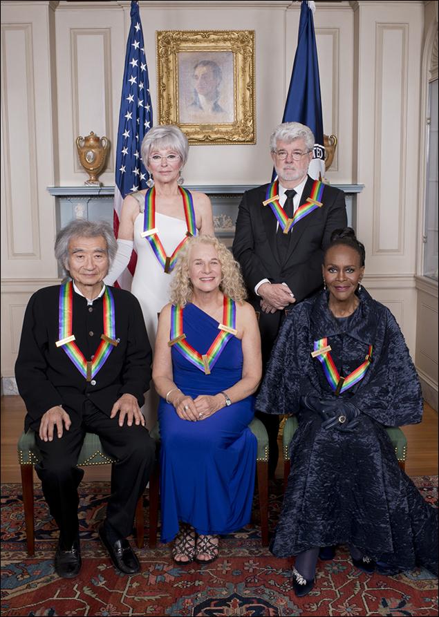 Seiji Ozawa, Rita Moreno,Carole King, George Lucas and Cicely Tyson