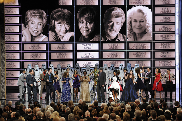 Chilina Kennedy, Aretha Franklin, James Taylor, Jangle Monae, Sara Bareilles, and the casts of Beautiful and West Side Story