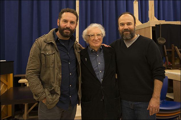 Adam Dannheisser, Sheldon Harnick and Danny Burstein