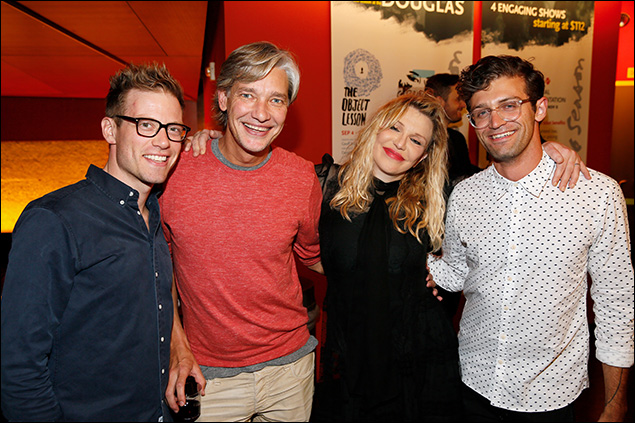 Barrett Foa, Christopher Youngsman, Courtney Love and Sam Pinkleton