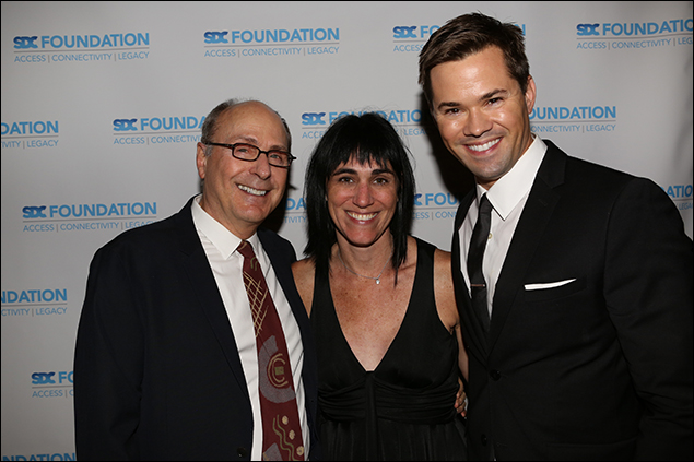 James Lapine, Leigh Silverman and Andrew Rannells