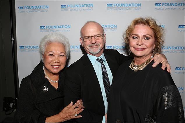 Joy Abbott, Michael Wilson and Elizabeth Ashley