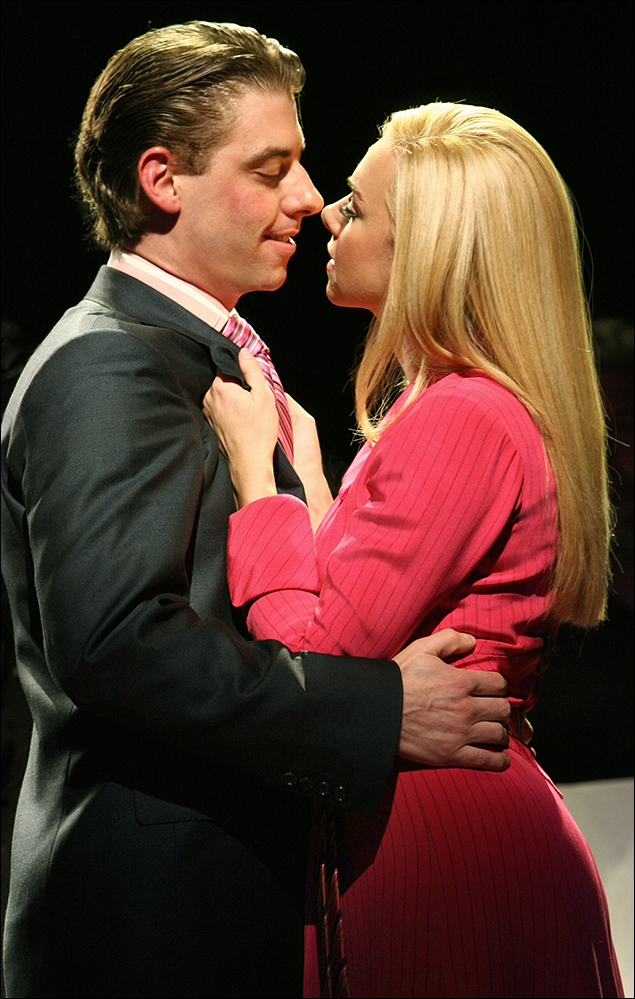 Christian Borle and Laura Bell Bundy in Legally Blonde