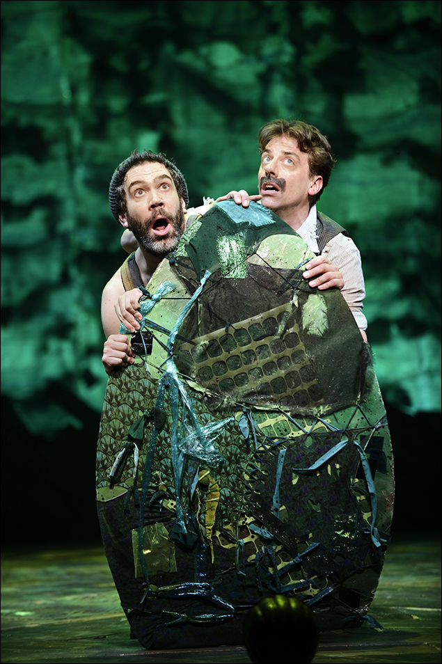 Kevin Del Aguila and Christian Borle in Peter and the Starcatcher