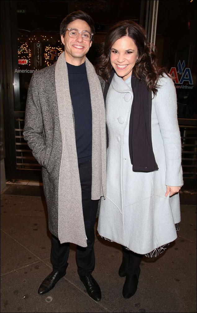 Gideon Glick and Lindsay Mendez