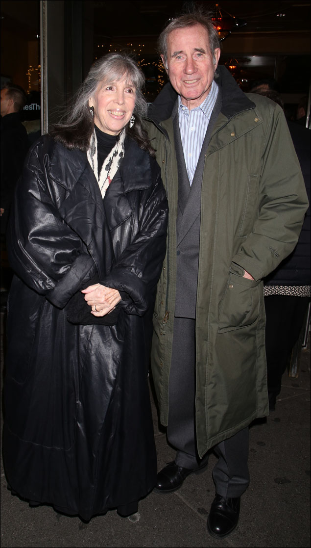 Julia Schafler and Jim Dale