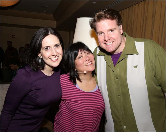 Stephanie D'Abruzzo, Ann Harada and Nick Kohn