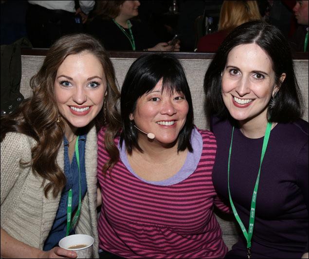 Laura Osnes, Ann Harada and Stephanie D'Abruzzo