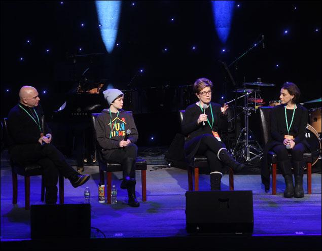 Michael Cerveris, Emily Skeggs, Lisa Kron and Judy Kuhn