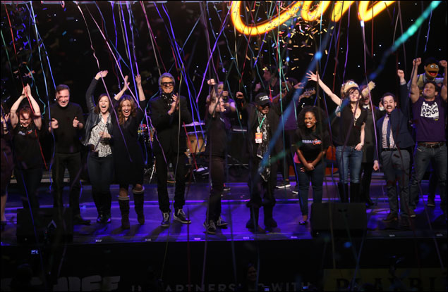 Patrick Page, Tommy Tune, Anthony Rapp, Ben Vereen and cast