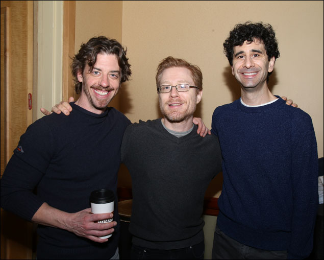 Christian Borle, Anthony Rapp and John Cariani