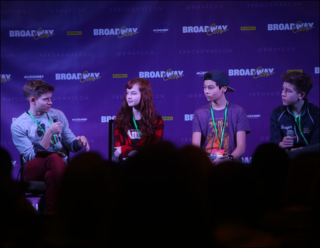 Andrew Keenan-Bolger moderates a panel with several of Broadway's young stars