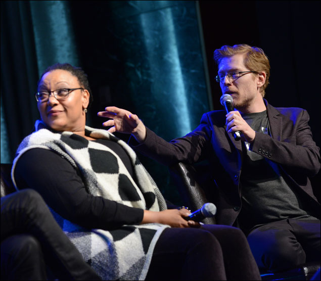 Fredi Walker-Browne and Anthony Rapp