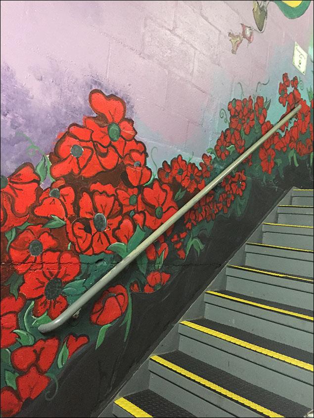 Eddie Pendergraft made this beautiful mural.