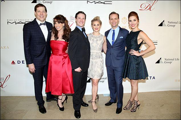 The current cast of Dames at Sea: John Bolton, Lesli Margherita, Cary Tedder, Eloise Kropp, Danny Gardner and Mara Davi