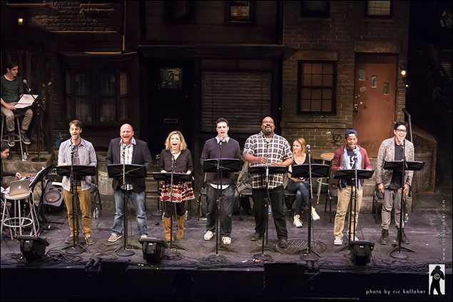 The cast of Legendale Ryan Vona, Jason SweetTooth Williams, Lauren Marcus, Jake Epstein, James Monroe Iglehart, Gilbert L. Bailey II and George Salazar