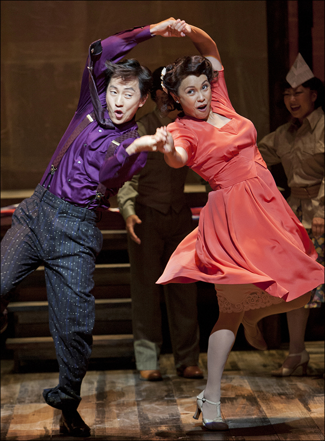 Michael K. Lee and Lea Salonga in Allegiance at the Old Globe