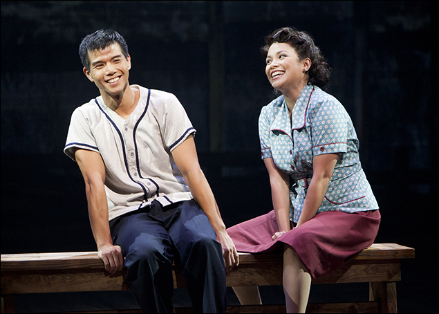 Telly Leung and Lea Salonga in Allegiance at the Old Globe